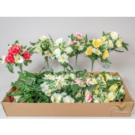 Rózsa, liliom csokor 7v. M35cm  24db/#