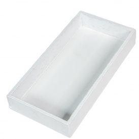 Fa tálca fehér 20x10cm