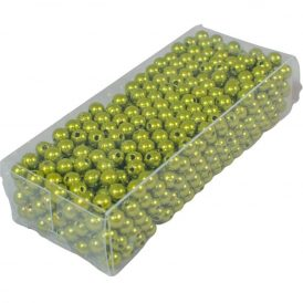 Gyöngy 6mm mohazöld 85gr