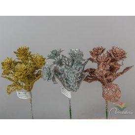Glitteres kövirózsa pick 23cm