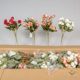 Kis rózsa csokor 12cm M33cm 36db/#