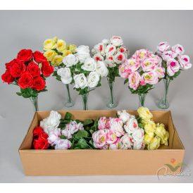 Rózsa csokor 10v. M42cm 24db/#