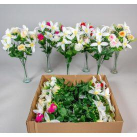 Rózsa, orchidea  csokor 10v. M42cm 12db/#