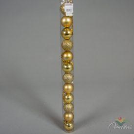 Müanyag gömb arany 4cm 12db-os