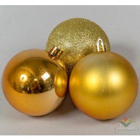 Müanyag gömb arany 6cm 12db-os