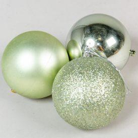Müanyag gömb sötét zöld 8cm 9db-os