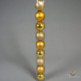 Müanyag gömb arany 8cm 9db-os