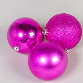 Müanyag gömb rózsaszín 8cm 9db-os