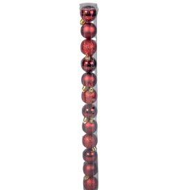 Müanyag gömb bordó 4cm 12db-os