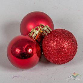 Müanyag gömb piros 4cm 12db-os