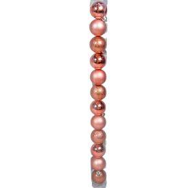 Müanyag gömb rose 4cm 12db-os