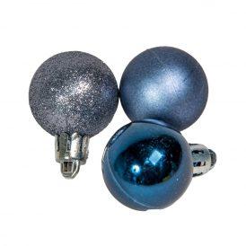 Müanyag gömb sötét kék 3cm 12db-os