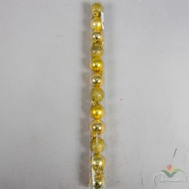 Müanyag gömb arany 3cm 12db-os