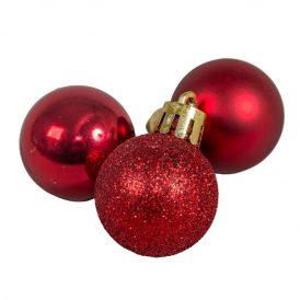 Müanyag gömb piros 3cm 12db-os
