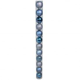 Müanyag gömb sötét kék 5cm 12db-os