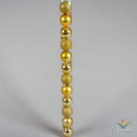 Müanyag gömb arany 5cm 12db-os