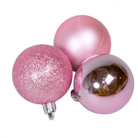 Müanyag gömb világos rózsaszín 5cm 12db-os