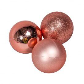 Müanyag gömb rose 5cm 12db-os