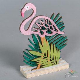 Fa flamingó pálma levelekkel M15cm