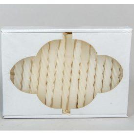 Karfa csavart gyertya fehér 30db-os (db ár)