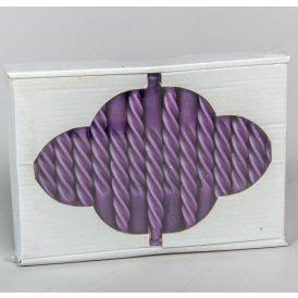 Karfa csavart gyertya lila 30db-os (db ár)
