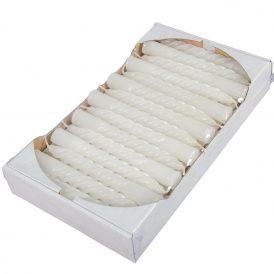 Mártott kis csavart gyertya fehér 150mm (db ár) 30db/csom