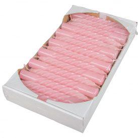 Mártott kis csavart gyertya rózsaszín 150mm (db ár) 30db/csom