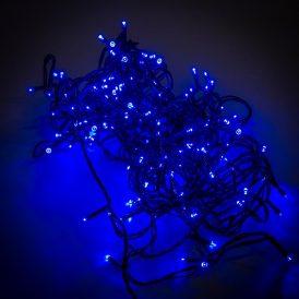 80 LED-es fényfüzér adapterrel kék
