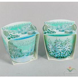 Poharas illatmécses 115g fagyos fenyő havas táj