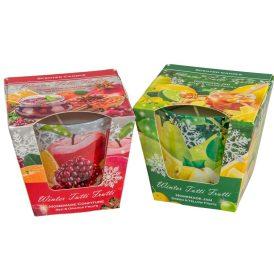 Poharas illatmécses 115g téli gyümülcsok