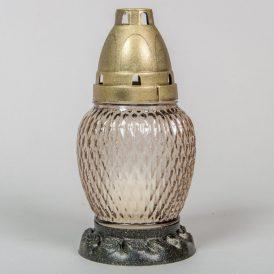 Szögletes csepp üvegmécses arany 17cm 12db/#
