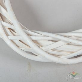 Hasított veszző koszorú fehér D25cm