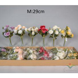 Mini dália csokor 8v. M29cm 36db/#