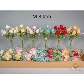 Nyílt rózsa csokor 6v. 24db/karton Egész/fél kartonra rendelhető!