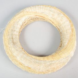 Fehér szizállal tekert széna alap 25cm