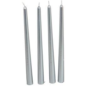 Metál sziluett gyertya 310 mm ezüst  4db/csom (db ár)