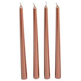 Metál sziluett gyertya 310 mm rosegold  4db/csom (db ár)
