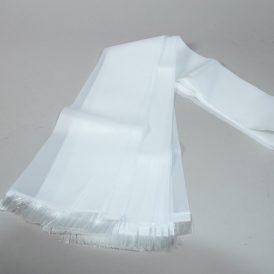 Koszorú szalag fehér sima 12x200cm 10db/csom (db ár)