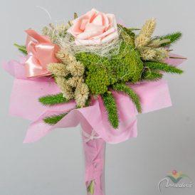 Szárazvirág csokor 1 rózsás vetexes   (3)