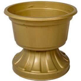 Műanyag bordás talpú bordás tál arany D16cm M14cm