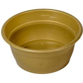 Műanyag peremes tál arany D13,5cm M6cm