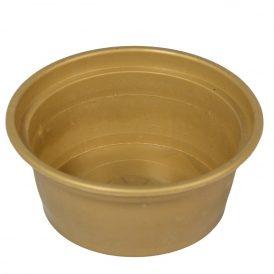 Műanyag peremes tál arany D14cm
