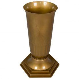 Műanyag talpas váza arany D15cm M34cm