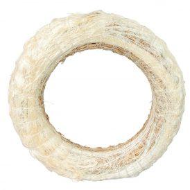 Fehér szizállal tekert széna alap 20cm