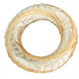Fehér szizállal, cirokkal tekert széna alap 20cm