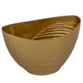 Műanyag csónak féloldalt bordás arany M12x17x10cm