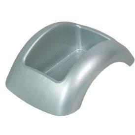 Műanyag domború tál ezüst FOCUS M8,5x23x17cm