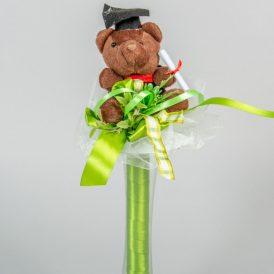 Ballagó csokor sapkás macival