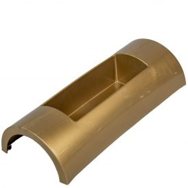 Műanyag domború tál arany DECORA M7x30X12cm