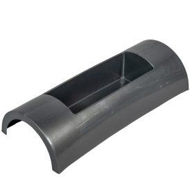 Műanyag domború tál grafit szürke DECORA M7x30X12cm